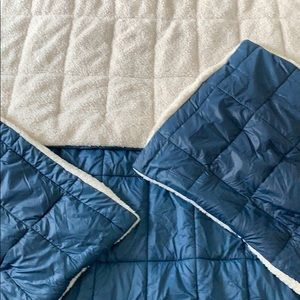 Pottery Barn quilted comforter and shams